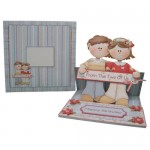 Dual Greetings Decoupage Shaped Easel Card Kit 3