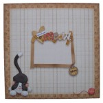 You're the Cat's Meow Decoupage Shaped Fold Card Kit 4