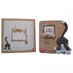 You're the Cat's Meow Decoupage Shaped Fold Card Kit 5