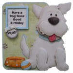 Puppy Love Decoupage Shaped Fold Card Kit 1