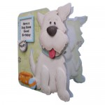 Puppy Love Decoupage Shaped Fold Card Kit 2