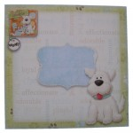 Puppy Love Decoupage Shaped Fold Card Kit 4
