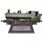 Steam Locomotive Decoupage Shaped Easel Card Kit 1
