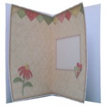 Red Patchwork Daisy Decoupage 5x7 Fold Card Kit 2