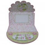 A Perfect Pair Decoupage Scalloped Plate Easel Card Kit 2