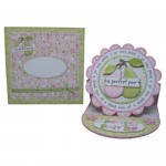 A Perfect Pair Decoupage Scalloped Plate Easel Card Kit 4