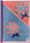Paper Shapers Flowers - Blue & Red Card