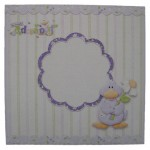 Welcome Little One Decoupage Shaped Fold Card Kit 4
