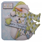 Warm Thoughts Snowman Shaped Fold Card Kit 1
