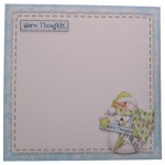 Warm Thoughts Snowman Shaped Fold Card Kit 4