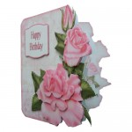 Pink Roses Decoupage Shaped Fold Card Kit 2