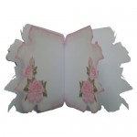 Pink Roses Decoupage Shaped Fold Card Kit 3