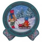 Nostalgic Christmas Plate Cards Twin Pack 1