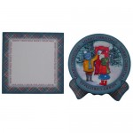 Nostalgic Christmas Plate Cards Twin Pack 6