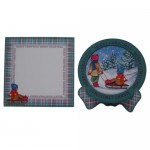 Nostalgic Christmas Plate Cards Twin Pack 3