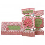 Poinsettia Decoupage Tri Fold Cracker Card Kit 4