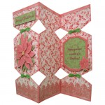 Poinsettia Decoupage Tri Fold Cracker Card Kit 2