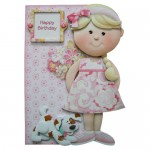 Girly Greetings Shaped Fold Card Kit 1
