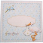Special Delivery Baby Boy Heart Shaped Fold Card Kit 4