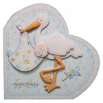 Special Delivery Baby Boy Heart Shaped Fold Card Kit 1