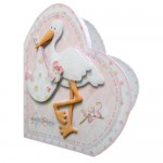 Special Delivery Baby Girl Heart Shaped Fold Card Kit 2