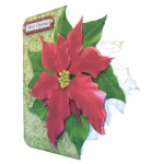 Poinsettia Shaped Fold Card Kit 2