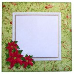 Poinsettia Shaped Fold Card Kit 4