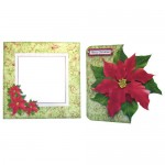 Poinsettia Shaped Fold Card Kit 5
