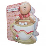 A Cup of Good Cheer Shaped Fold Card Kit 2