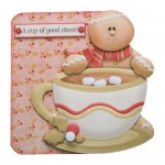 A Cup of Good Cheer Shaped Fold Card Kit 1
