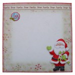 Dear Santa Shaped Fold Card Kit 4
