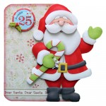 Dear Santa Shaped Fold Card Kit 1
