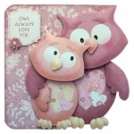 Owl Always Love You Shaped Fold Card - finished card view 1