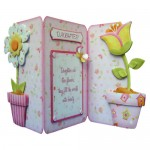 Like Flowers Shaped Tri Fold Card - daughter version