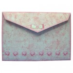 Bearing Flowers Shaped Tri Fold Card - envelope back