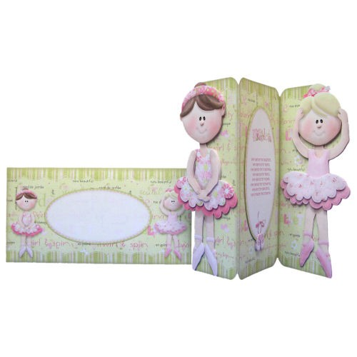 Ballet Shaped Tri Fold Card- finished set