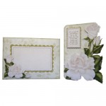 White Roses Shaped Fold Card - finished set