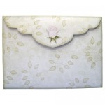 White Roses Shaped Fold Card - envelope back