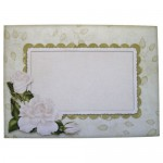 White Roses Shaped Fold Card - envelope front