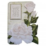 White Roses Shaped Fold Card - view 1