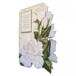 White Roses Shaped Fold Card - view 2