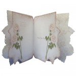 Antique Cream Rose Shaped Fold Card - mother's day insert