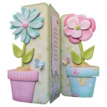 Friendship's Fragrant Garden Shaped Tri Fold Card - view 2