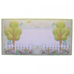 Friendship's Fragrant Garden Shaped Tri Fold Card - envelope