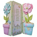 Friendship's Fragrant Garden Shaped Tri Fold Card - view 1