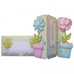 Friendship's Fragrant Garden Shaped Tri Fold Card - finished set