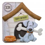 Playful Pup Shaped Fold Card - base 2