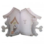 Playful Pup Shaped Fold Card - inside view