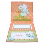 Like the Flower & the Bee Square Easel Card - inside view