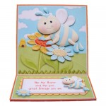 Like the Flower & the Bee Square Easel Card - finished card